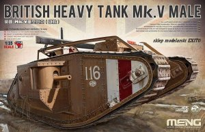 MENG MODEL TS020 - 1:35 Mk.V Male British Heavy Tank w/ Full Interior