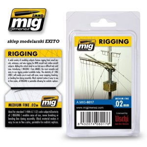 AMMO MIG 8017 - Rigging - Medium Fine 0.02 mm