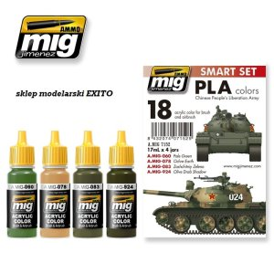 AMMO MIG 7152 - PLA Colors ( Chinese People s Liberation Army ) - Smart Set