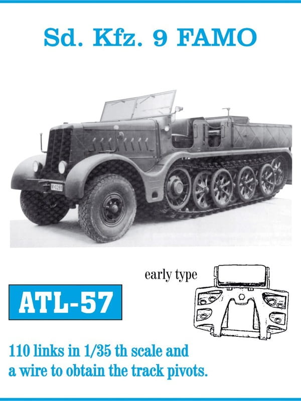 FRIULMODEL ATL 57 - 1:35 Sd Kfz 9 FAMO early type tracks